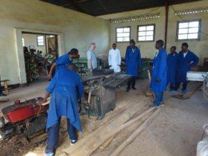 Grâce au soutien de l'Action Sud 2015, l'École professionnelle a de nouveau un atelier bien aménagé.