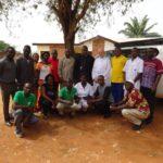 Onze eerste medewerkers in het Centrum Saint Père Damien in Bangui.