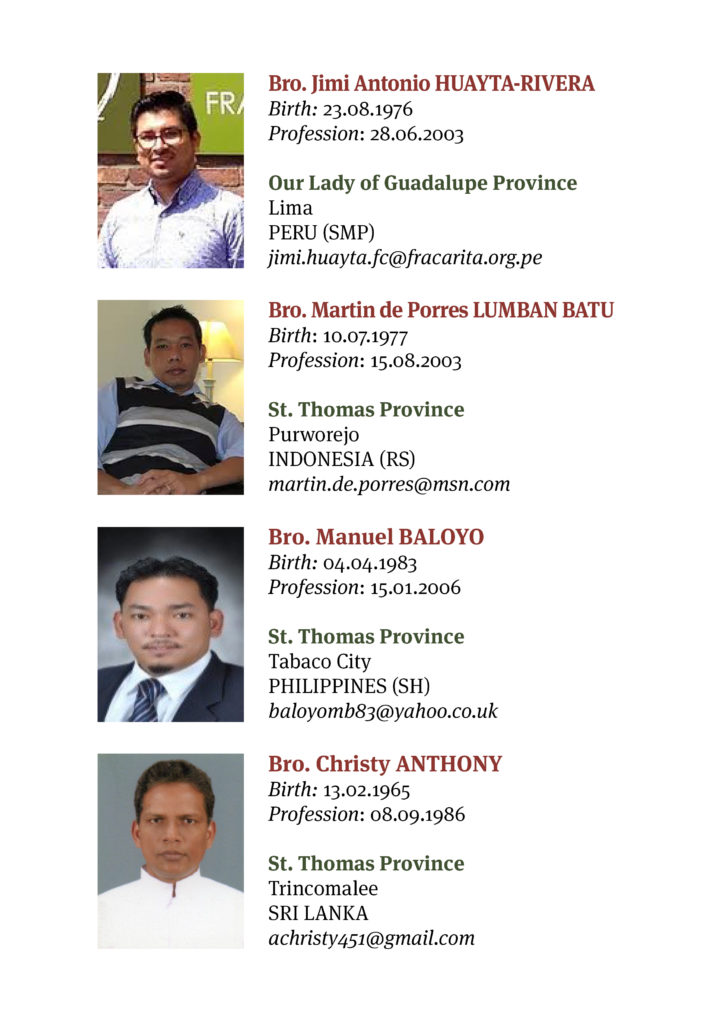 Participants General Chapter 2018 Brothers of Charity7
