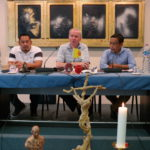 De stemopnemers: Br. Manuel Baloyo, Br. Louis Verschueren en Br. Martin de Porres