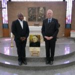 Br. Jean-Marie Mukonkole (vicaris-generaal) en Br. René Stockman (generale overste)