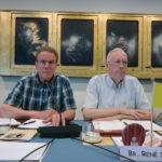 Moderator Bro. John Fitzgerald (left)