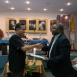 resigning general assistant  Bro. Victor Hugo Merino Conde